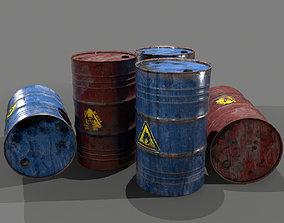 Oil Barrel 3D model game-ready PBR