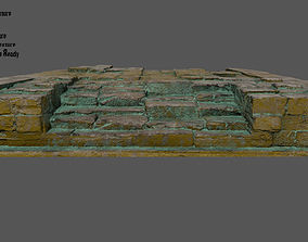 3D asset game-ready rock Stairs