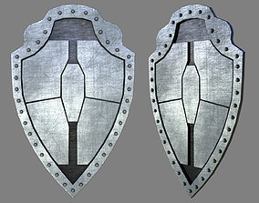 Metal Shield for games and animation 3D asset