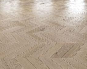 Oak Chevron light floor 3D