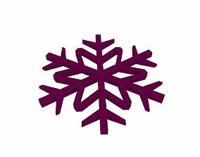 3D model Snowflake v1 Purple