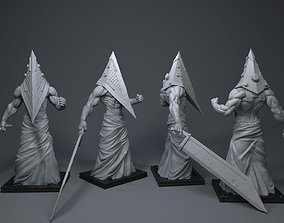 Pyramid Head figurines 3D printable model