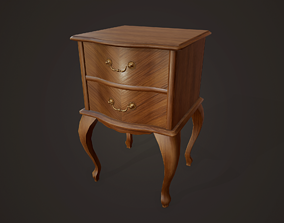 3D model Bedside Table - PBR Game Ready