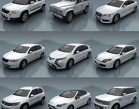 10 - City cars models E low-poly
