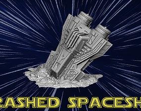 3D printable model Crashed spaceship