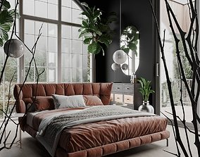 Husk Bedroom Scene for Cinema 4D and Corona Renderer 3D