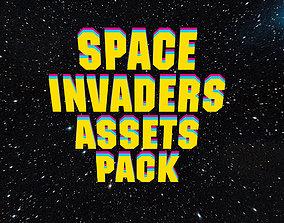 realtime 3d Space Invader Asset Pack