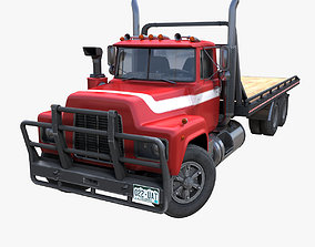 3D model Industrial flatbed truck