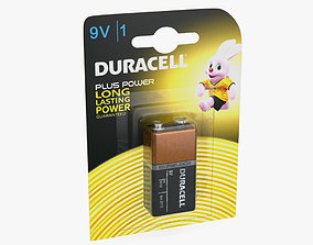 9V Duracell Battery Alkaline Pack 3D Model