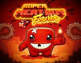 Super Meat Boy 3D print model