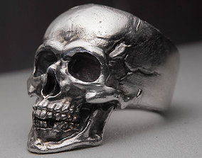 3D print model silver Skull Ring