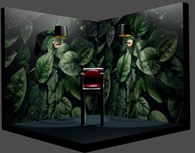 3D model bar stool texture