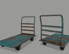 Trolley 3D model game-ready industry