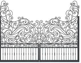 ornate Iron Gate 3D
