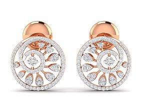 wedding Women earrings 3dm stl render detail