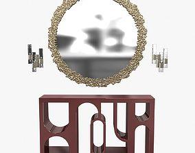 Brabbu cay mirror colosseum console and ombak wall 3D