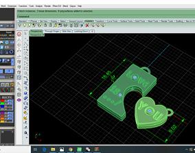 3D printable model Heart Pendent valantines