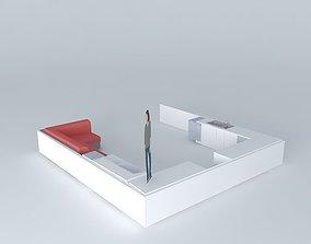 3D model KITCHEN HALL