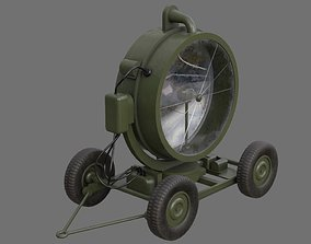 Searchlight 1A 3D asset low-poly