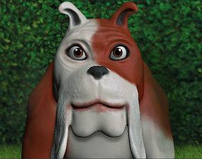 3D model Cartoon bulldog