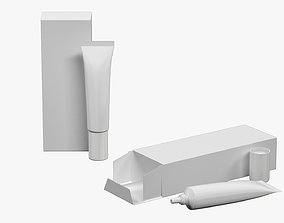 3D model Tube 15ml and Box