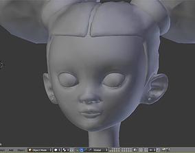 3D model Stylized Little Girl Base Mesh
