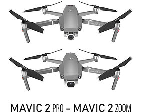 Mavic 2 Pro and Mavic 2 Zoom flying 3D