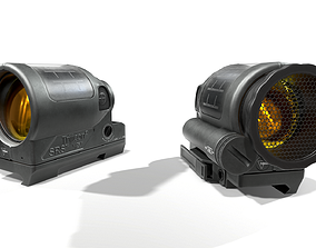 3D asset Trijicon SRS Red Dot Sight