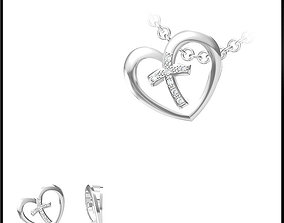 3D printable model JCD White gold pendant jewelry design
