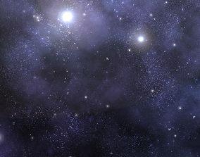 3D model Star Field Space Background