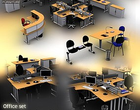 Office Set 3D model VR / AR ready