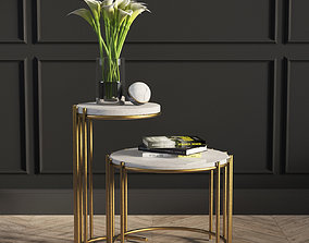 Messina Nesting Side Tables West Elm 3D model