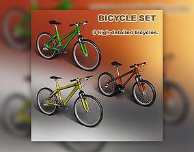 Bicycle set 3D model