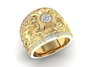 korea diamond ring for men 643 3D printable model