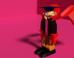 Low Poly The Monkey Knight from The Graduation 3D asset