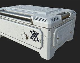 3D model Sci-fi Crate Game Ready