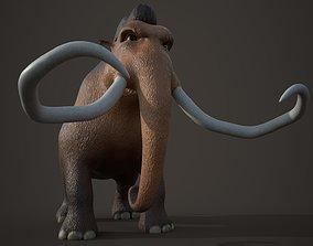 3D model Cartoon Mammoth Character