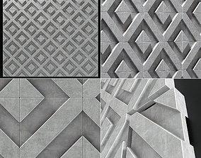 3D Wall decor concrete tile line Big n2