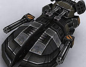 3DRT - Sci-Fi Hover Tank1 game-ready