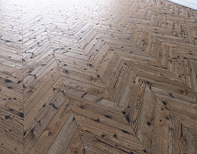 Parquet chevron classic with knots 3D asset