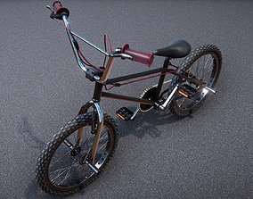 Low Poly PBR BMX stunt bike 3D asset