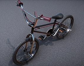 Low Poly PBR BMX stunt bike 3D asset