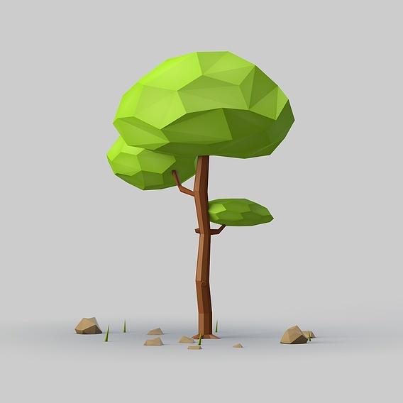 Low Poly TREE 3D