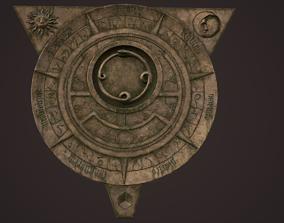 Fantasy occult astrolabe 3D asset VR / AR ready