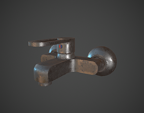 3D model low-poly Dirty Wall Mounted Tap