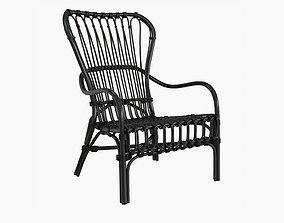 Storsele Ikea chair rattan bamboo black 3D