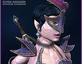 3D asset animated Elven Assassin