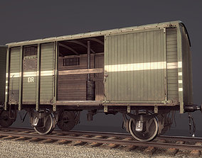 Railway Covered Goods Wagon 18T Vr5 DR 3D model