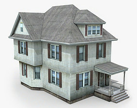 3D asset Two Story House