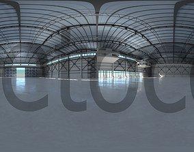 HDRI - Industrial Hangar Hall Interior 3 3D model